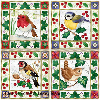 Christmas Bird Cards